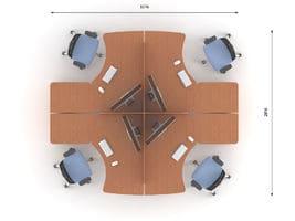 Комплект офисной мебели Техно-3 фото 2