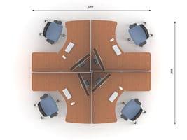 Комплект офисной мебели Техно-4 фото 2