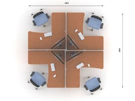Комплект офисной мебели Техно-10 фото 2