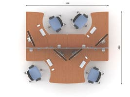 Комплект офисной мебели Техно-6 фото 2