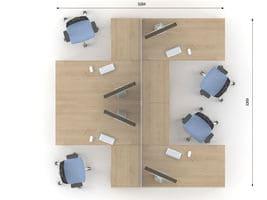 Комплект офисной мебели Озон 6 фото 2