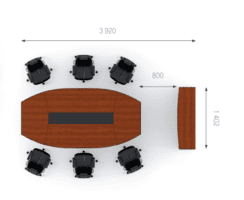 Конференц стол, комплект Эйдос 4 фото 2