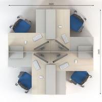 Мебель для персонала Сенс, комплект 7 фото 2