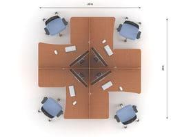 Комплект офисной мебели Техно-9