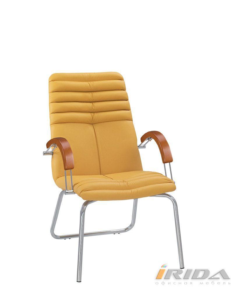 Кресло Гелекси wood CF хром фото
